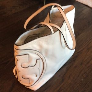 Tory Burch leather large tote bag All T East-West